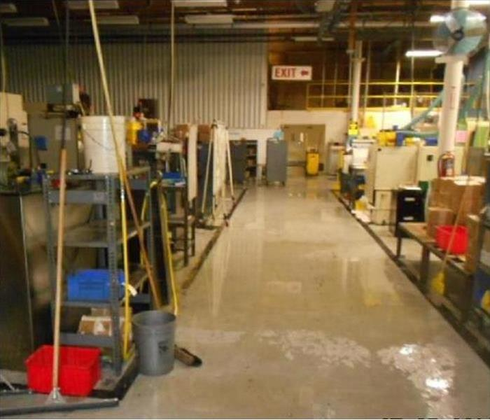 Flood in a Los Gatos Fabricating Plant Before